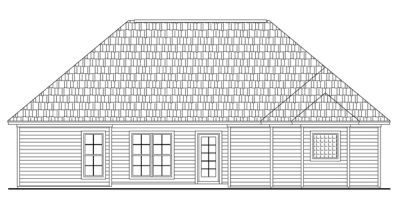 Rear Elevation Plan: 2-145