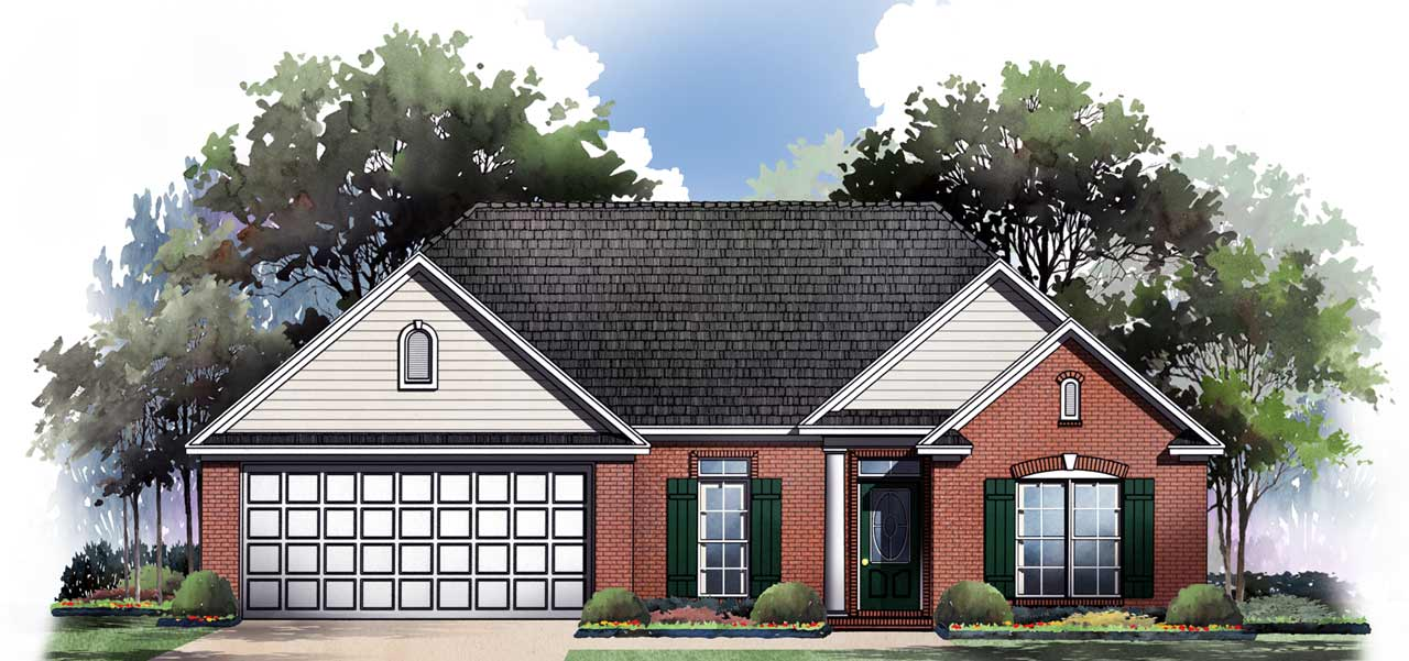 Traditional Style Home Design Plan: 2-147