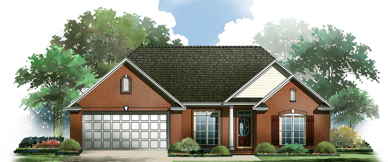 Traditional Style Home Design Plan: 2-150