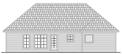 Rear Elevation Plan: 2-150