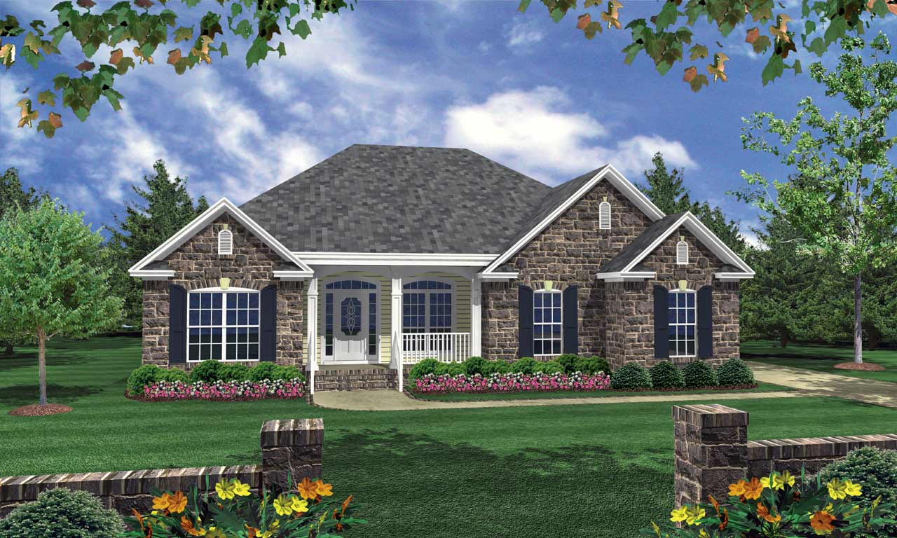 Traditional Style Home Design Plan: 2-151