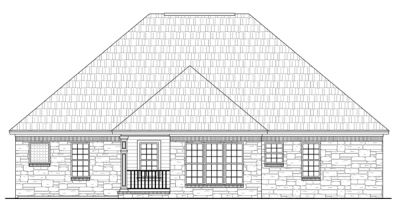 Rear Elevation Plan: 2-151