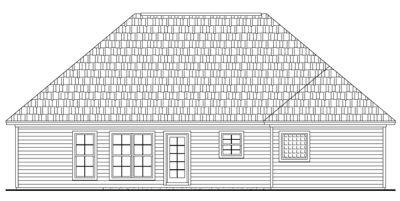 Rear Elevation Plan: 2-152