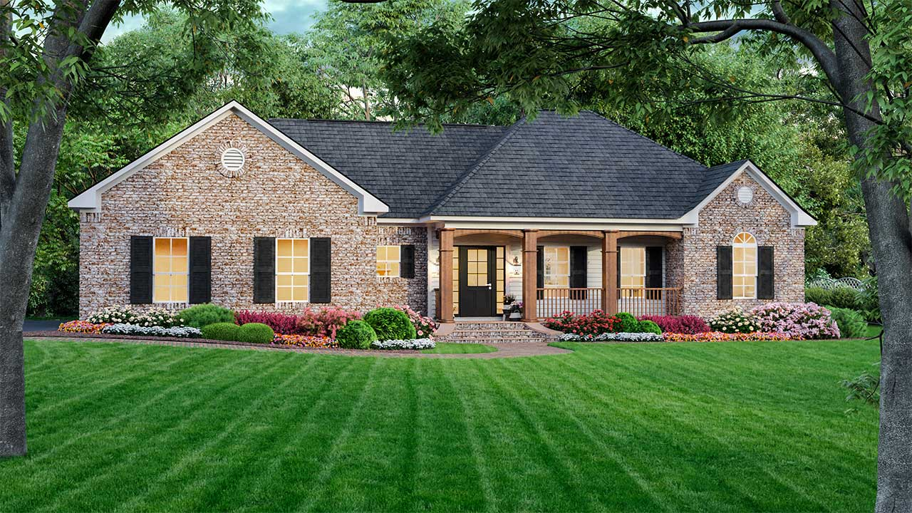 Country Style Home Design Plan: 2-154