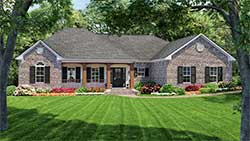 Country Style Home Design 2-156