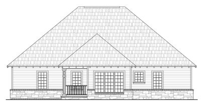 Rear Elevation Plan: 2-157
