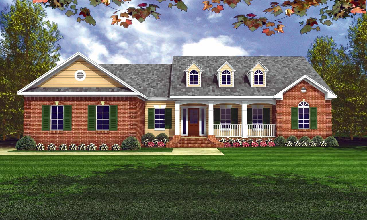 Country Style House Plans Plan: 2-160
