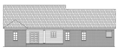 Rear Elevation Plan: 2-160