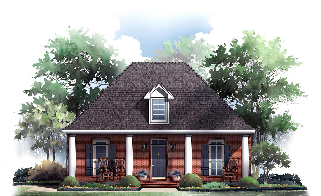 Country Style Home Design Plan: 2-161