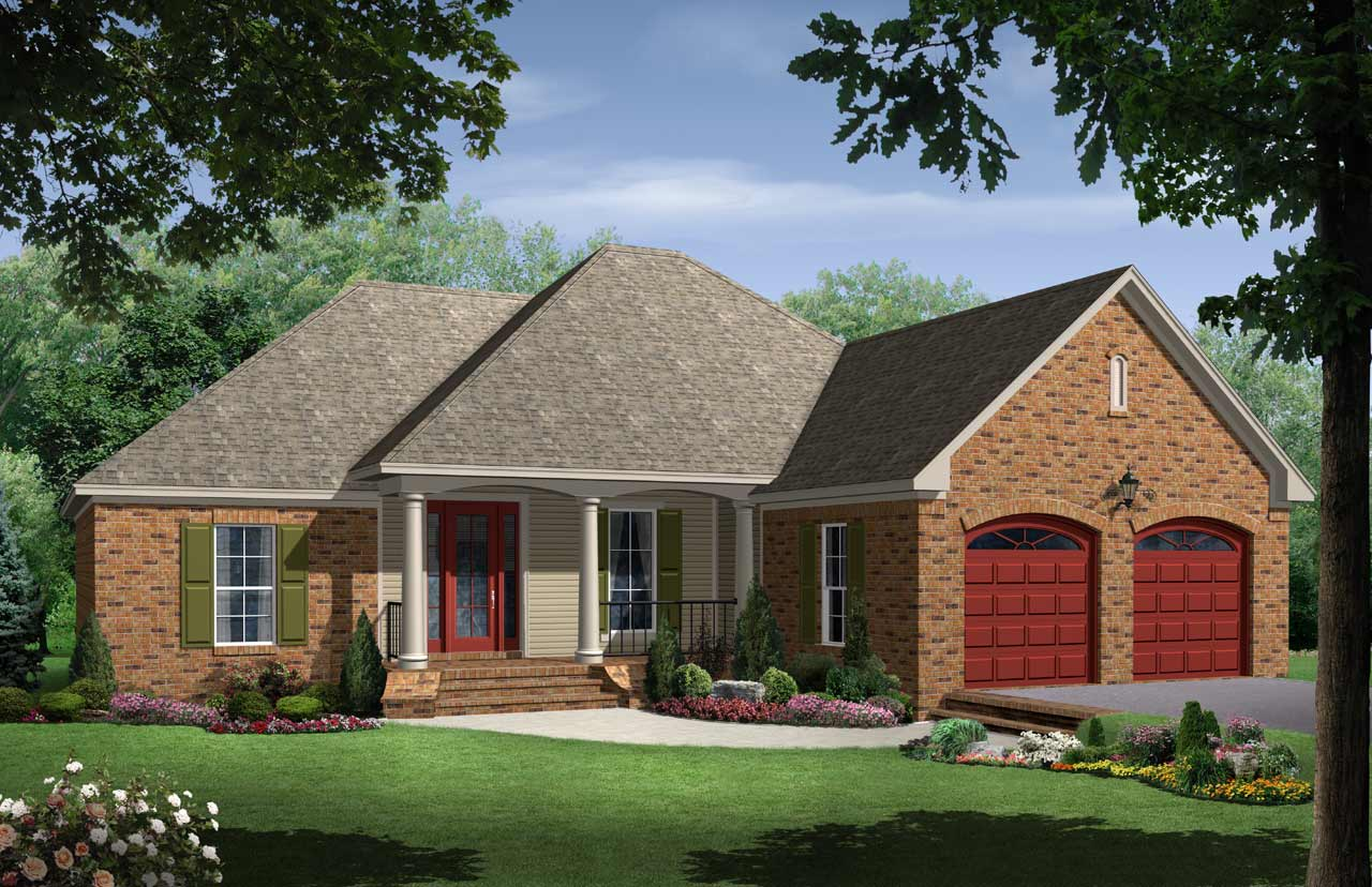 Country Style Home Design Plan: 2-162