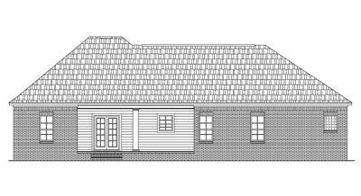 Rear Elevation Plan: 2-164