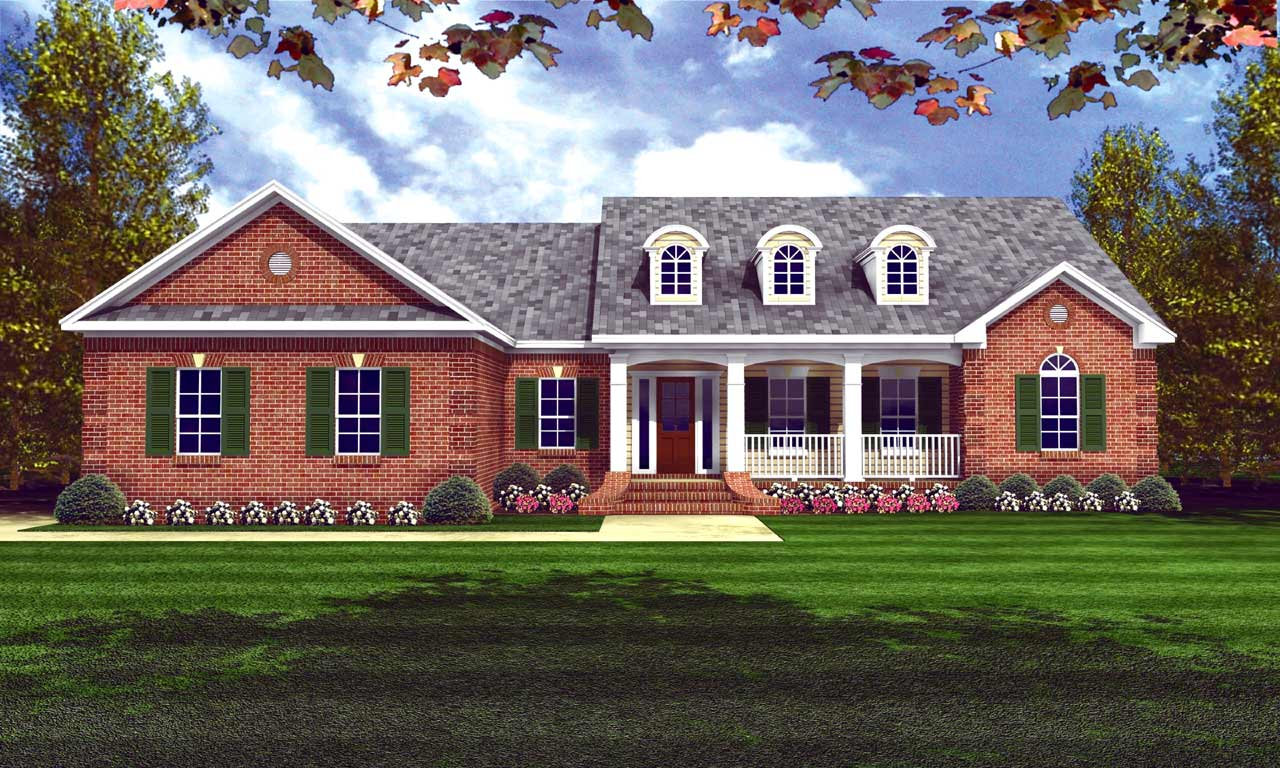 Southern Style Floor Plans Plan: 2-165