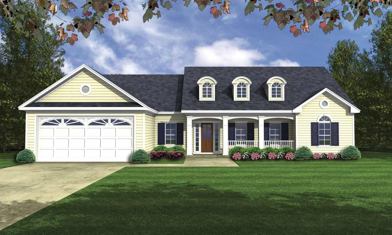 Southern Style House Plans Plan: 2-166