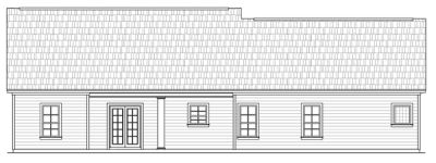 Rear Elevation Plan: 2-166