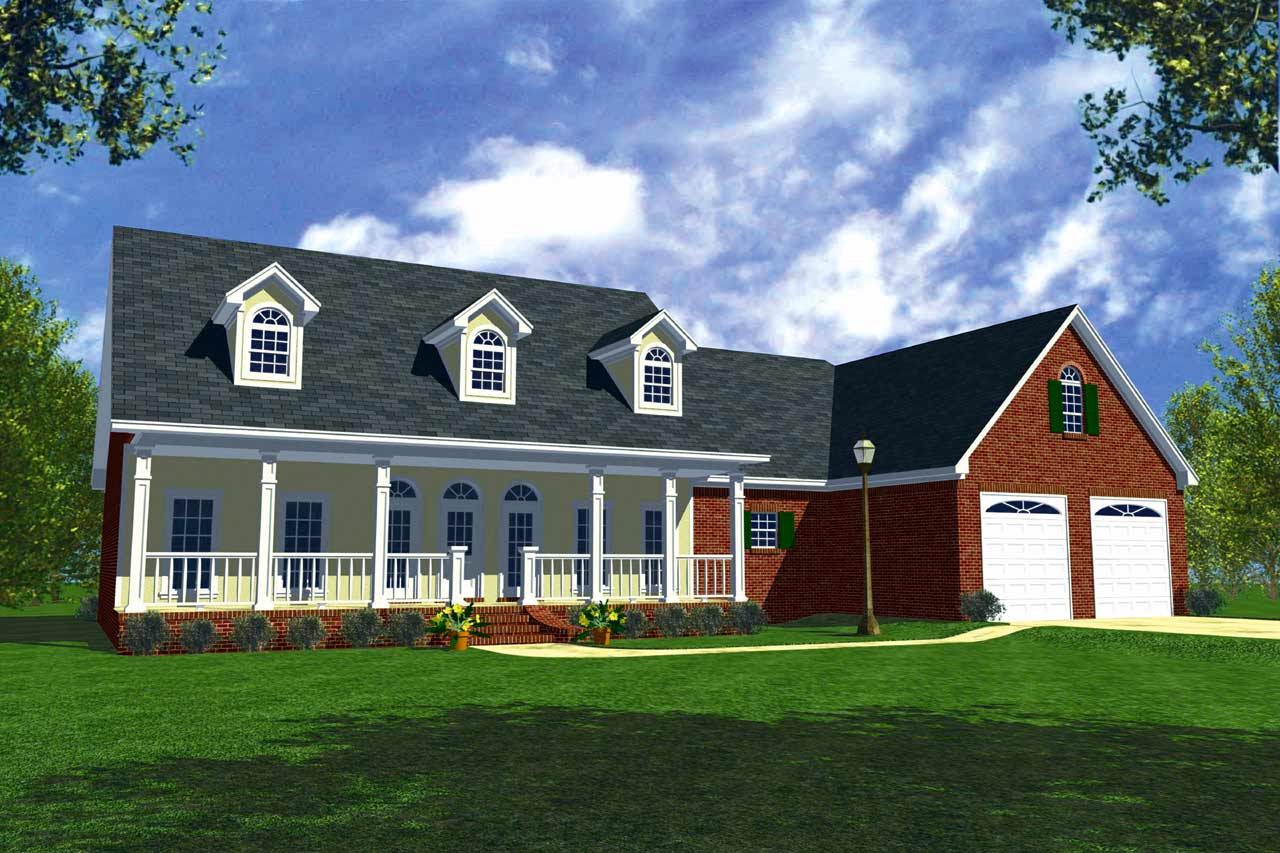 Southern Style Home Design Plan: 2-167