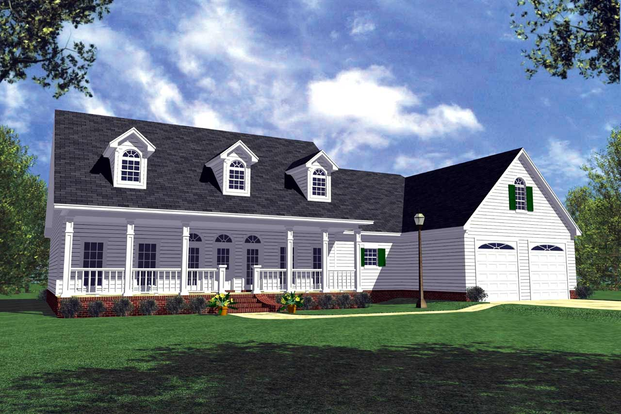 Southern Style House Plans Plan: 2-168