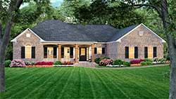 Country Style Home Design Plan: 2-170