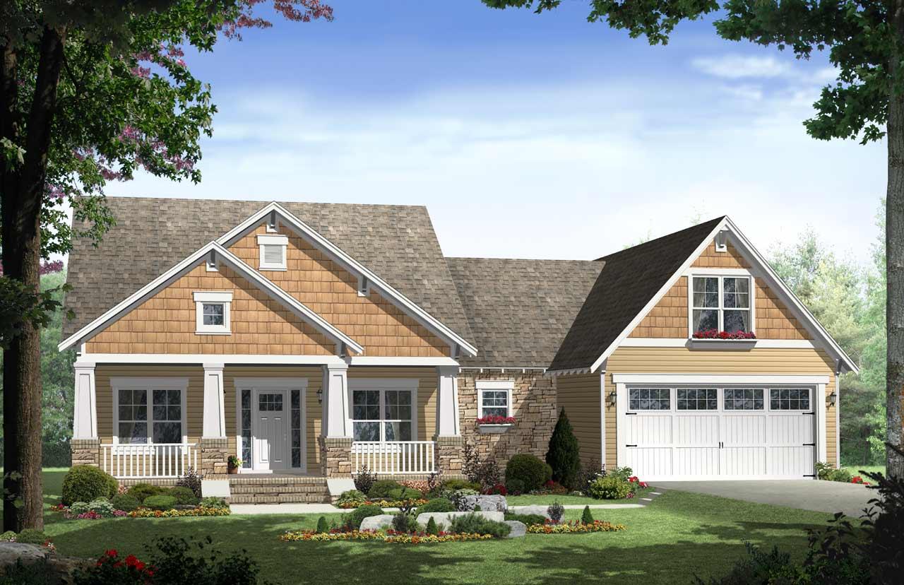 Craftsman Style Home Design Plan: 2-171