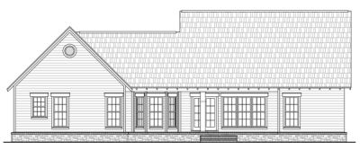 Rear Elevation Plan: 2-171