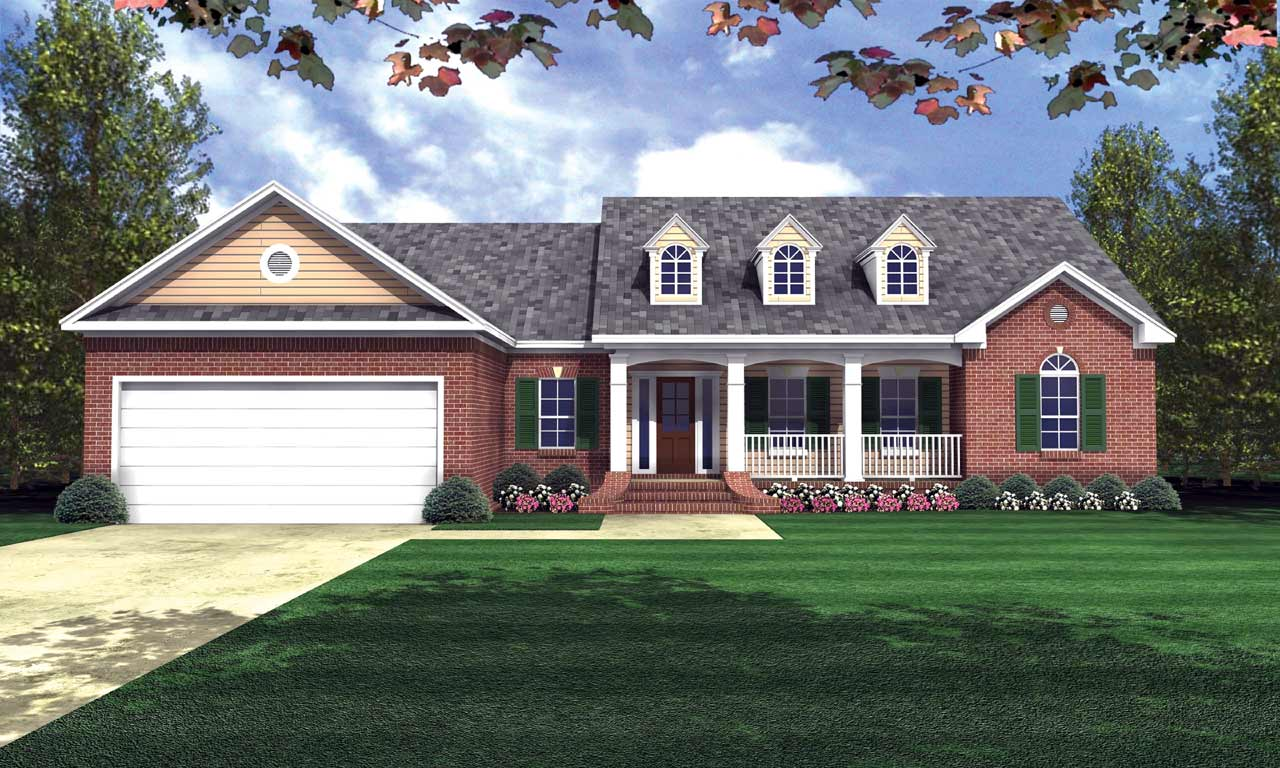 Country Style House Plans Plan: 2-173