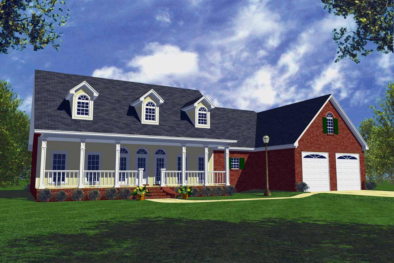 Southern Style Home Design Plan: 2-174
