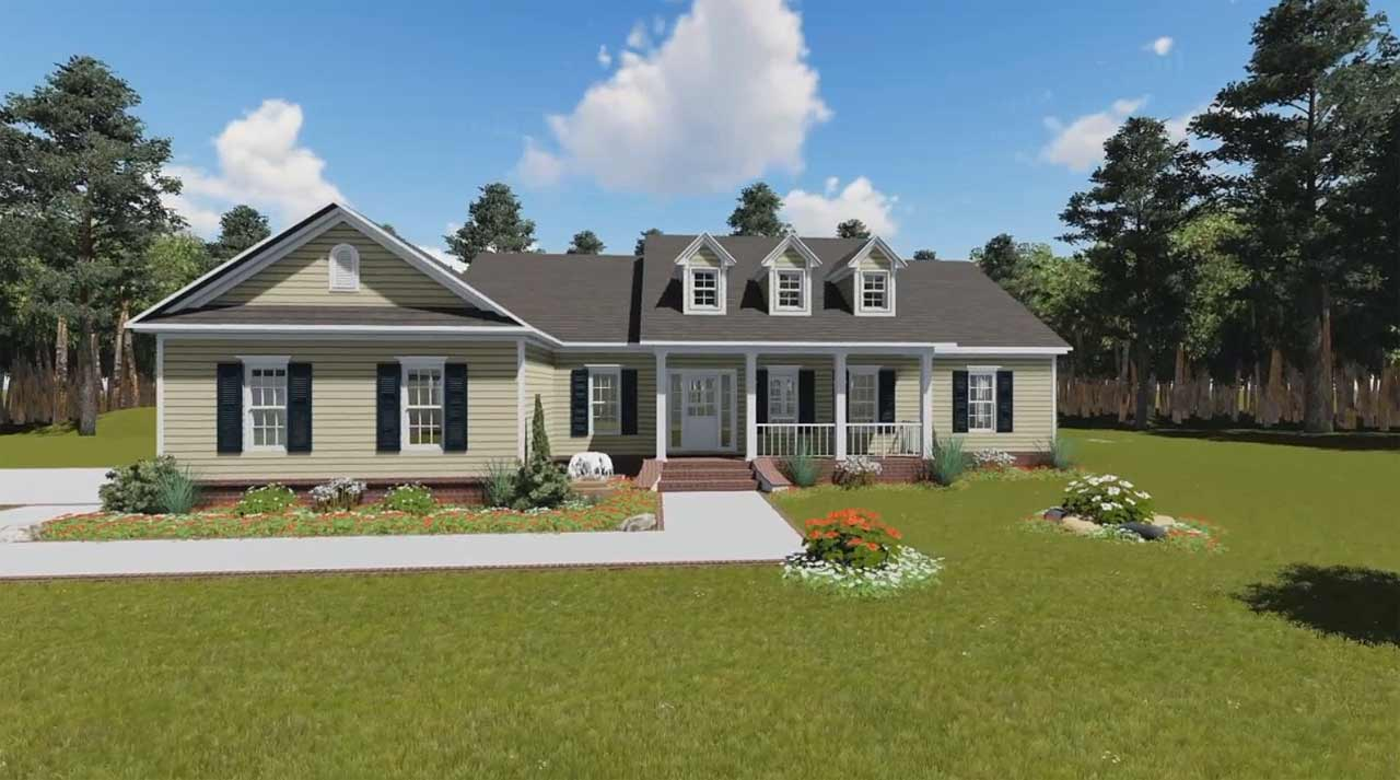 Southern Style House Plans Plan: 2-175