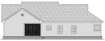 Rear Elevation Plan: 2-175