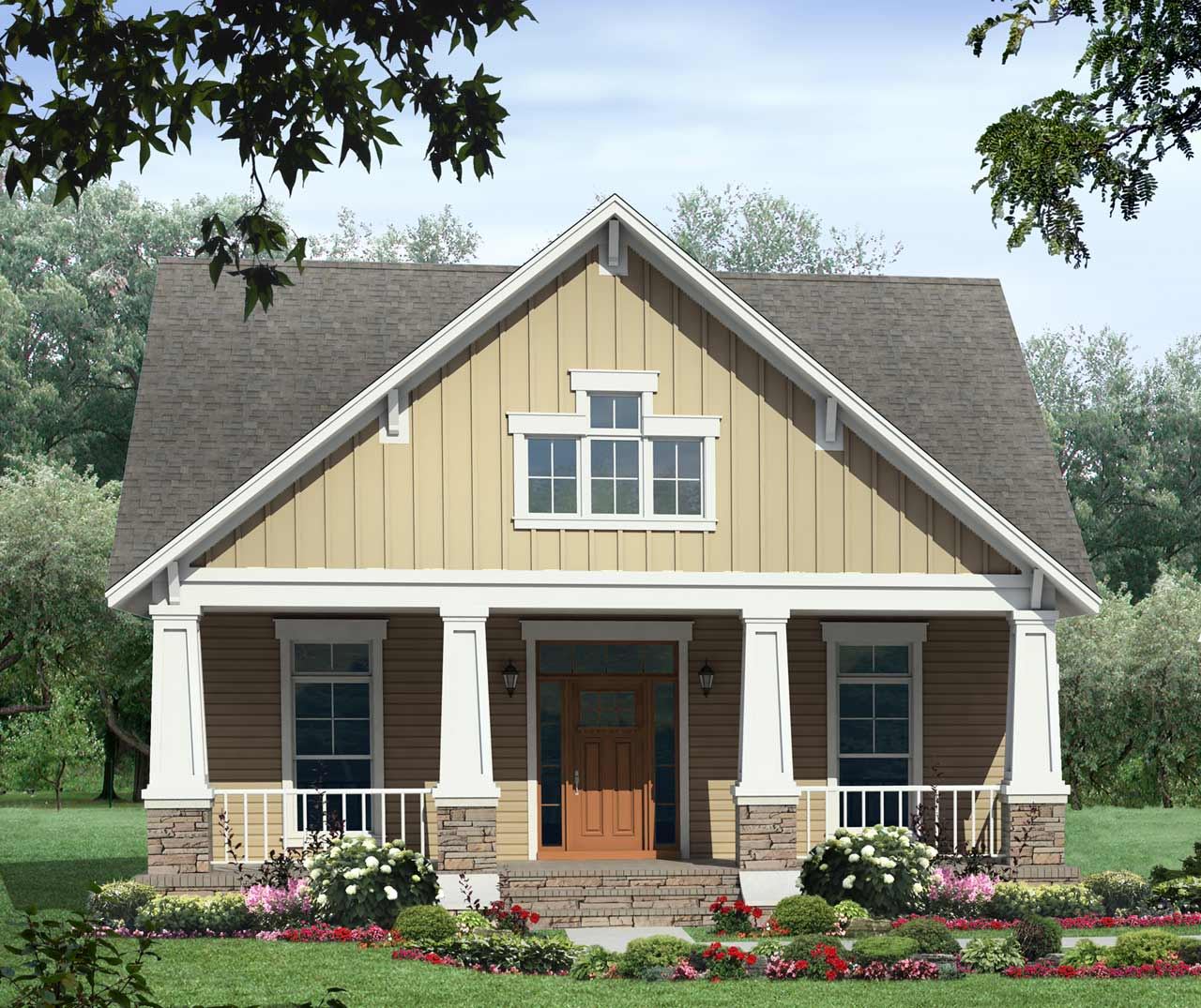 Bungalow Style House Plans Plan: 2-176
