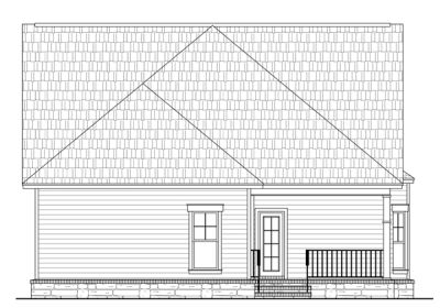 Rear Elevation Plan: 2-176