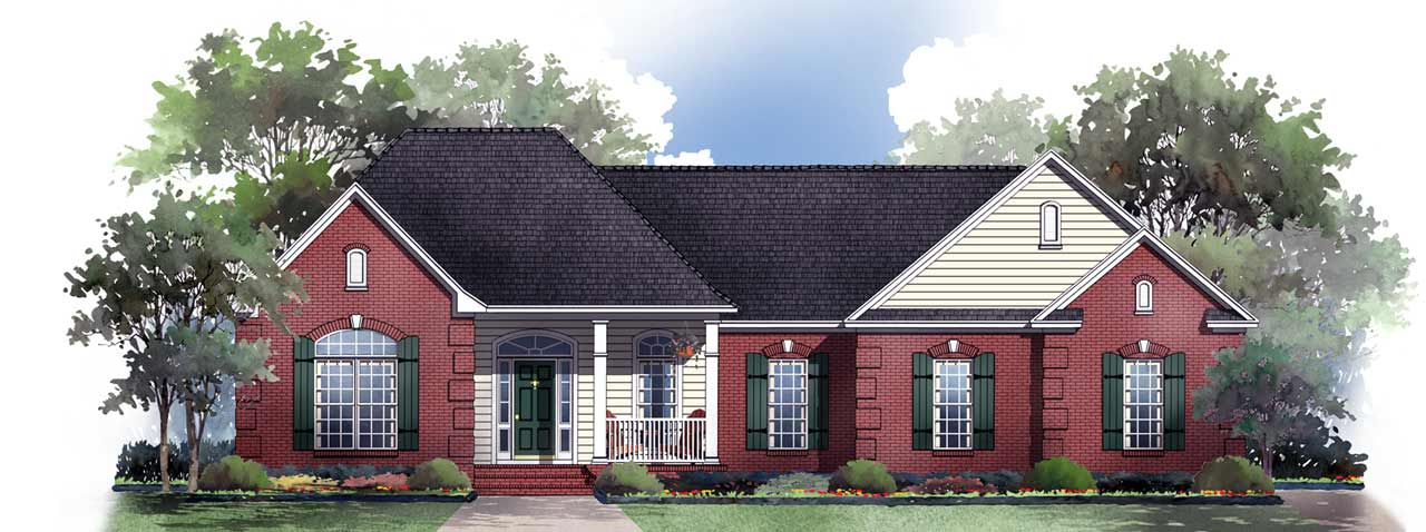 Southern Style Floor Plans Plan: 2-177
