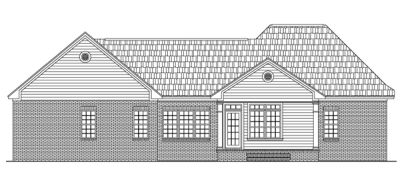 Rear Elevation Plan: 2-177