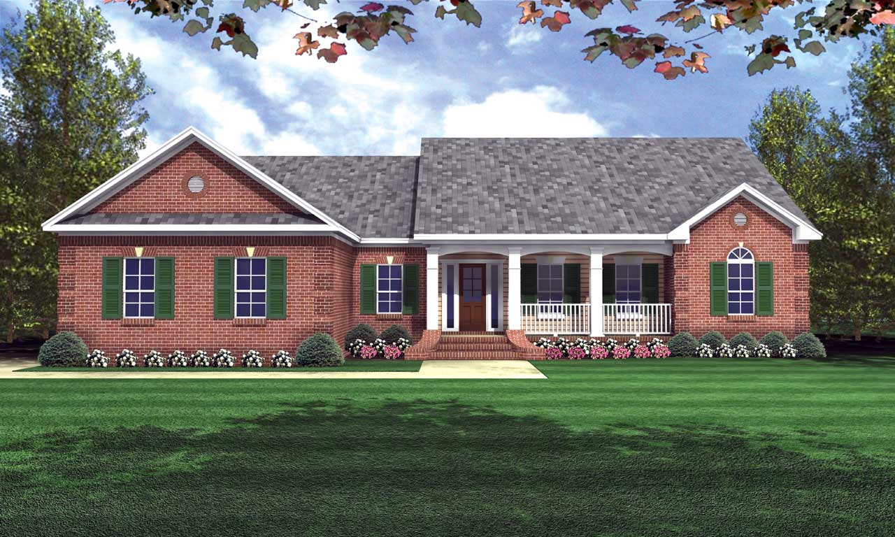 Country Style House Plans Plan: 2-178