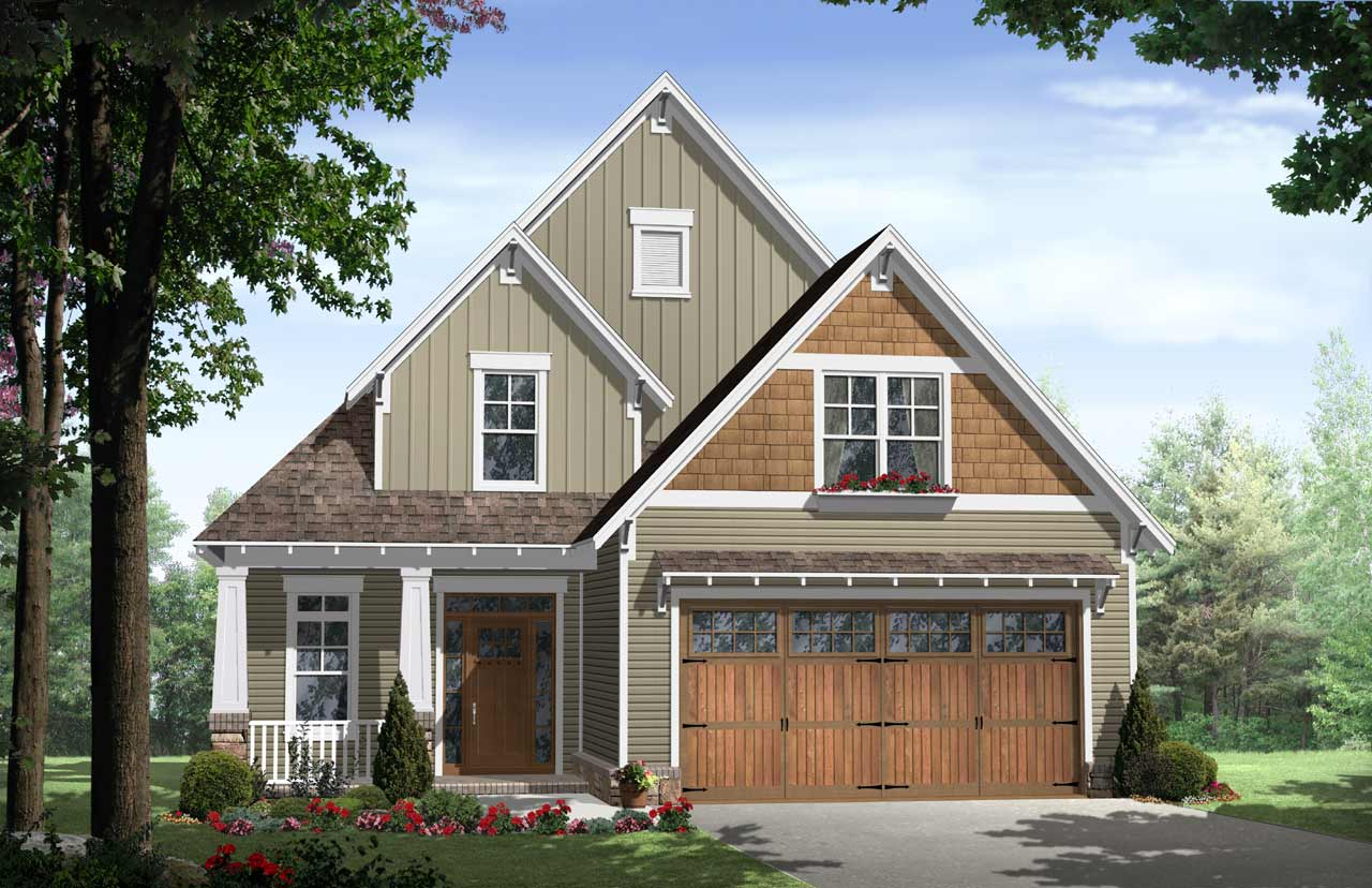 Craftsman Style House Plans Plan: 2-179
