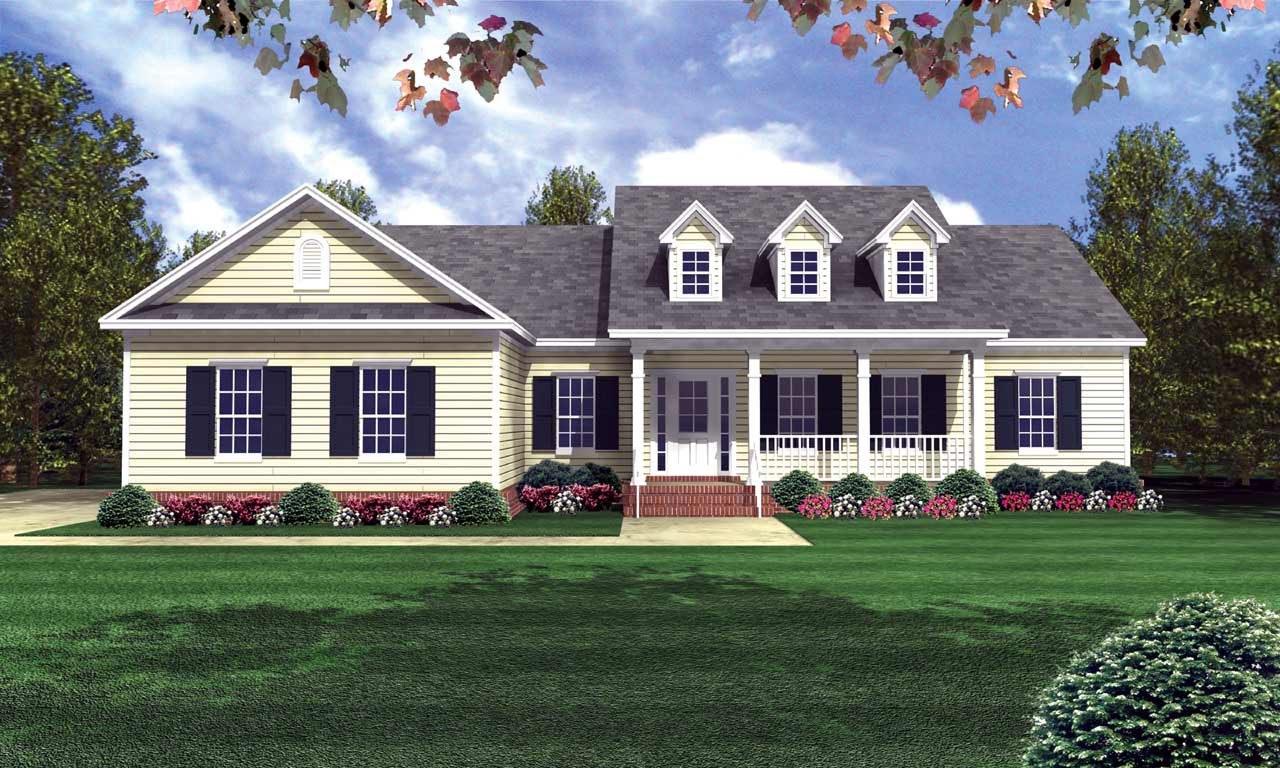 Country Style Floor Plans Plan: 2-181