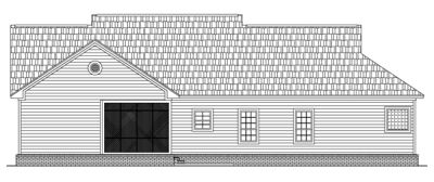 Rear Elevation Plan: 2-181