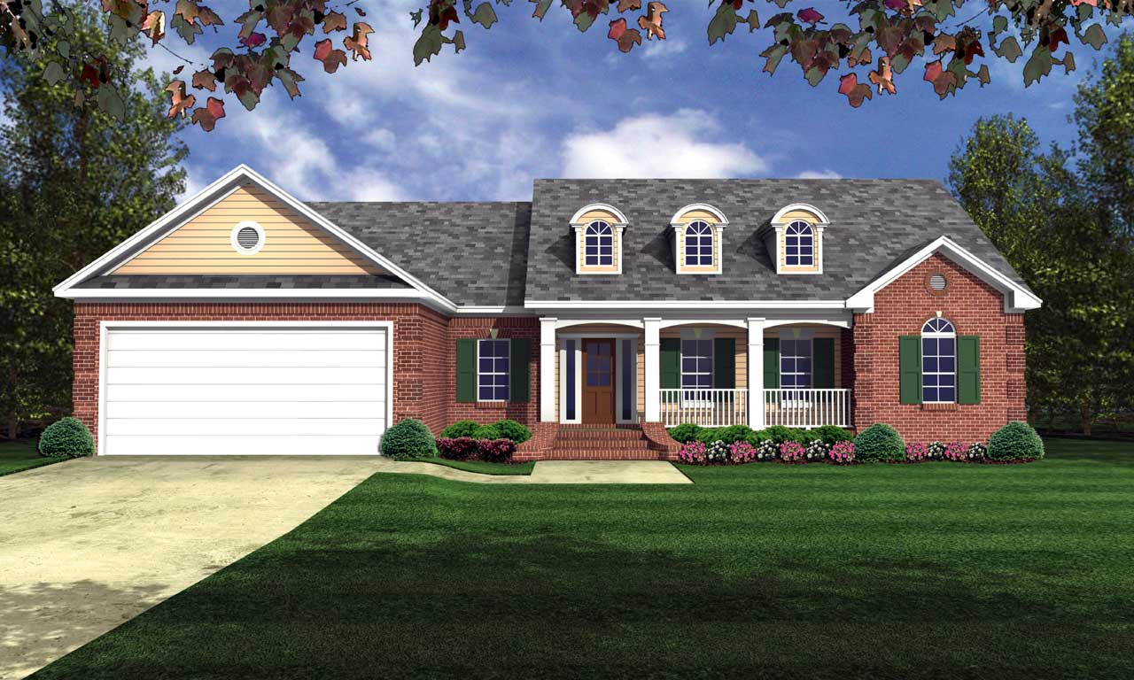 Southern Style Floor Plans Plan: 2-184