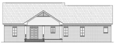 Rear Elevation Plan: 2-184