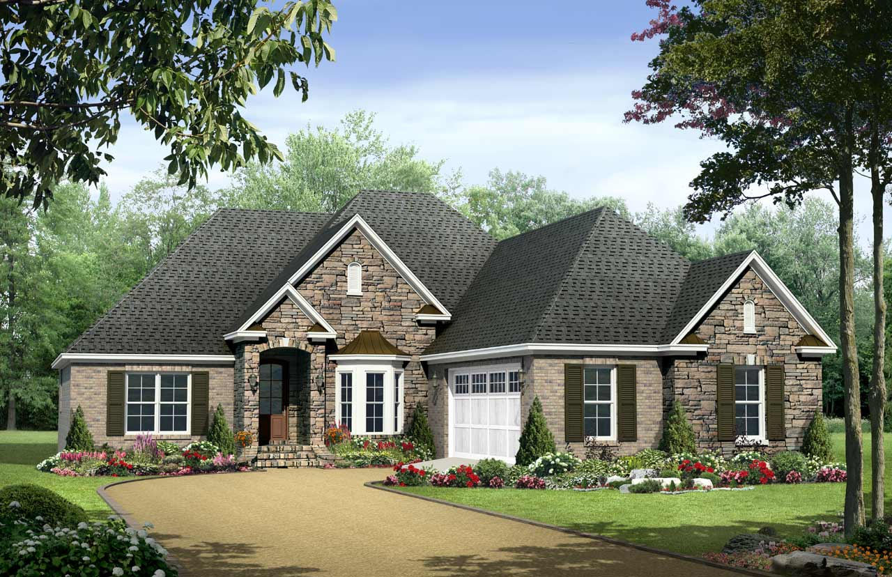 Traditional Style House Plans Plan: 2-185