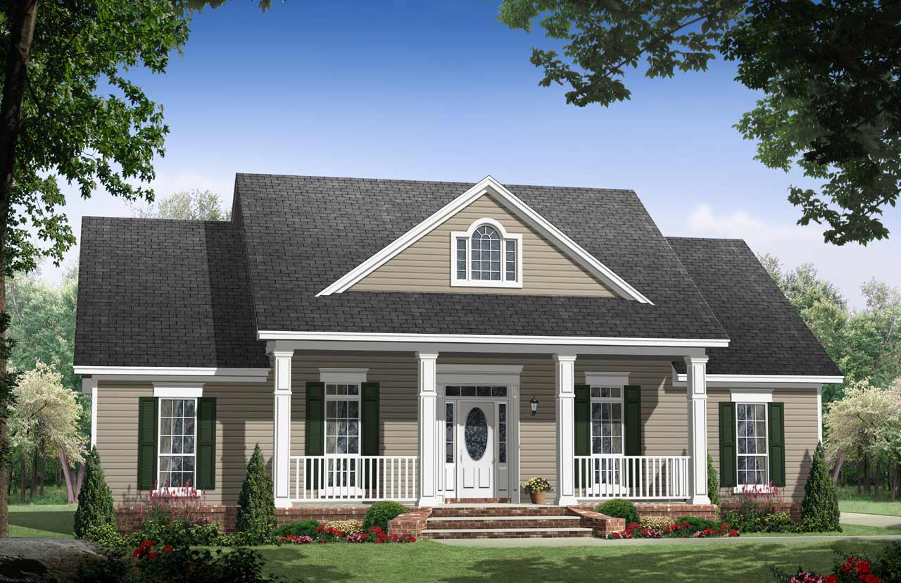 Country Style Home Design Plan: 2-186
