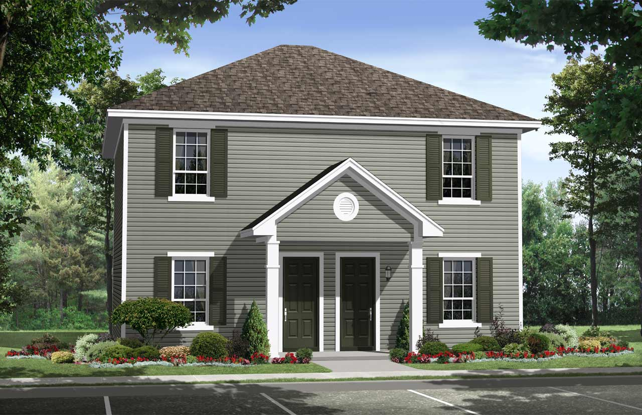Colonial Style Floor Plans Plan: 2-187