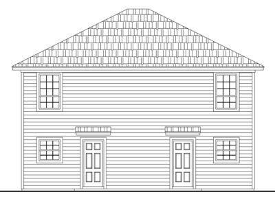 Rear Elevation Plan: 2-187