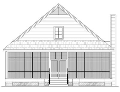Rear Elevation Plan: 2-191