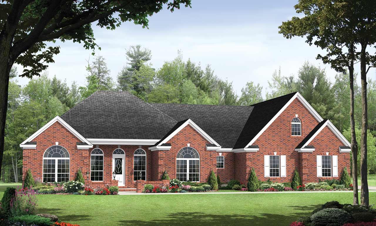 European Style Home Design Plan: 2-193
