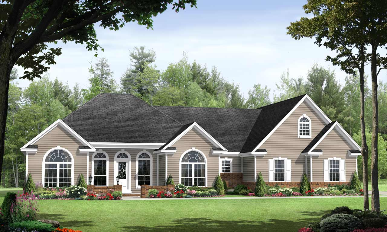 European Style House Plans Plan: 2-194