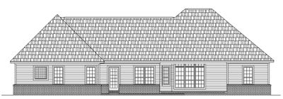 Rear Elevation Plan: 2-197