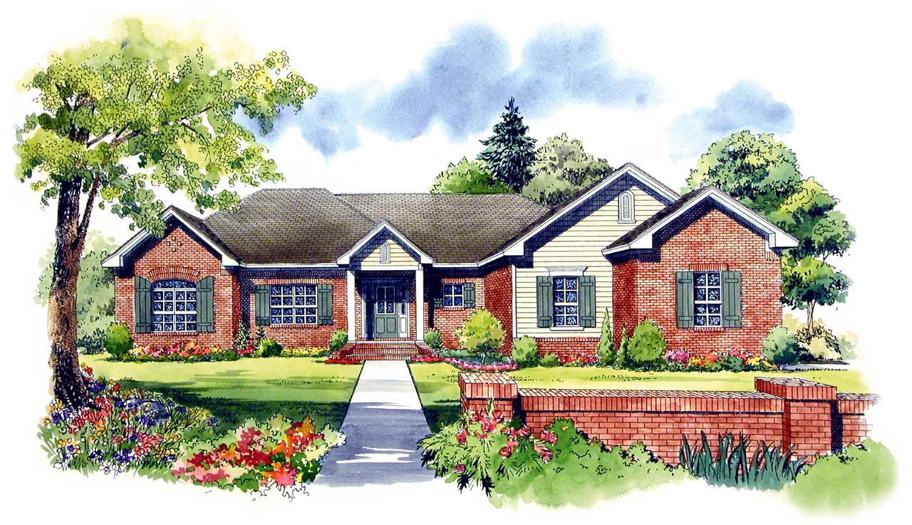 Traditional Style House Plans Plan: 2-199