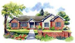 Traditional Style Home Design Plan: 2-199