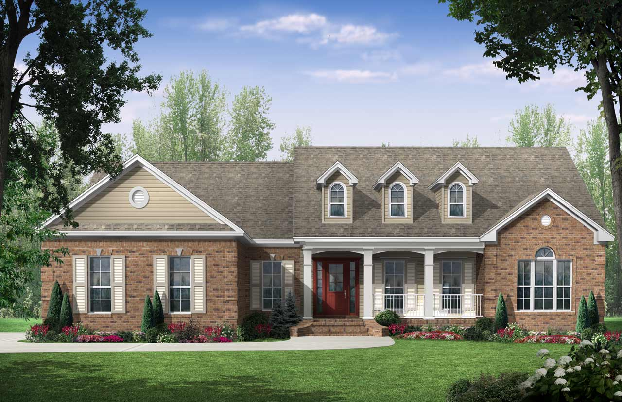 Southern Style Home Design Plan: 2-200