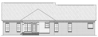 Rear Elevation Plan: 2-200