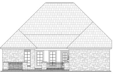 Rear Elevation Plan: 2-201